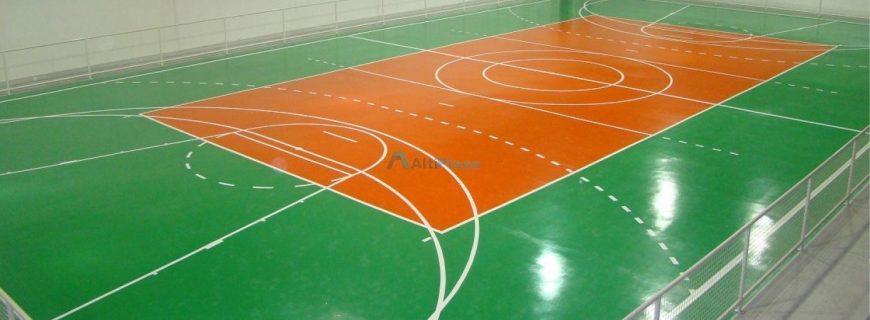 Como pintar uma quadra poliesportiva